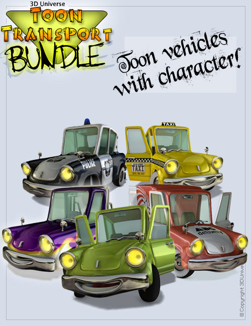 Toon Transport - Bundle by: 3D Universe, 3D Models by Daz 3D