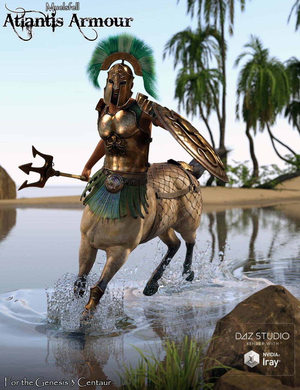 Muelsfell Atlantis Armour for the Centaur 7 Male by: E-Arkham, 3D Models by Daz 3D