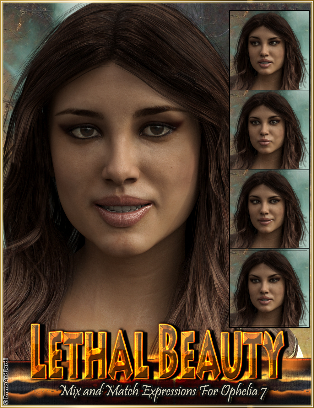 Lethal Beauty Mix and Match Expressions for Ophelia 7 and Genesis 3 Female(s) by: EmmaAndJordi, 3D Models by Daz 3D
