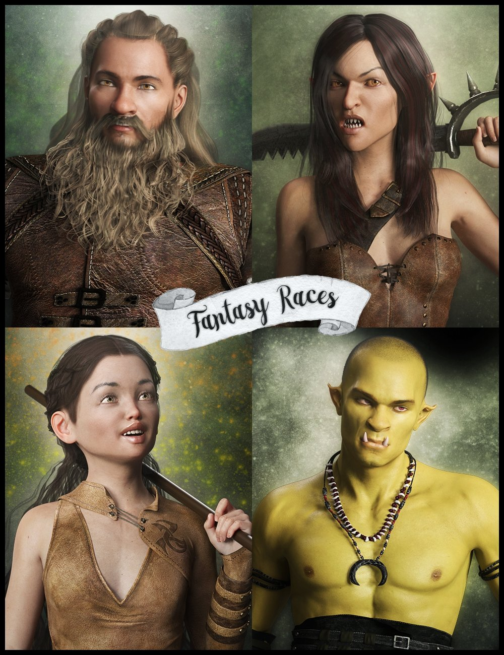 LY Fantasy Races HD Faces and Bodies by: Lyoness, 3D Models by Daz 3D