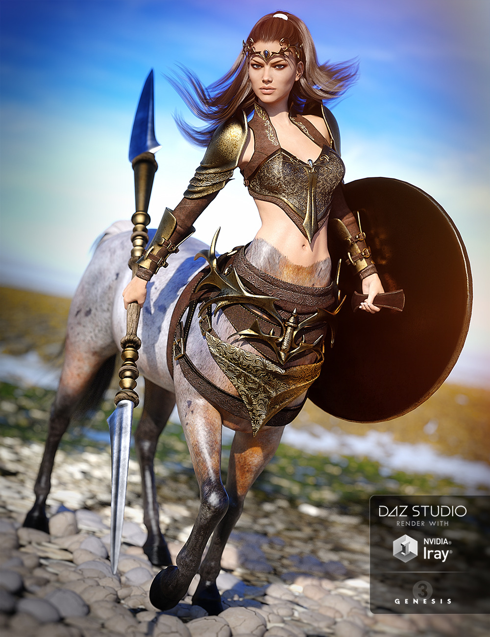 Guardian Outfit for Centaur 7 Female by: Anna BenjaminMada, 3D Models by Daz 3D