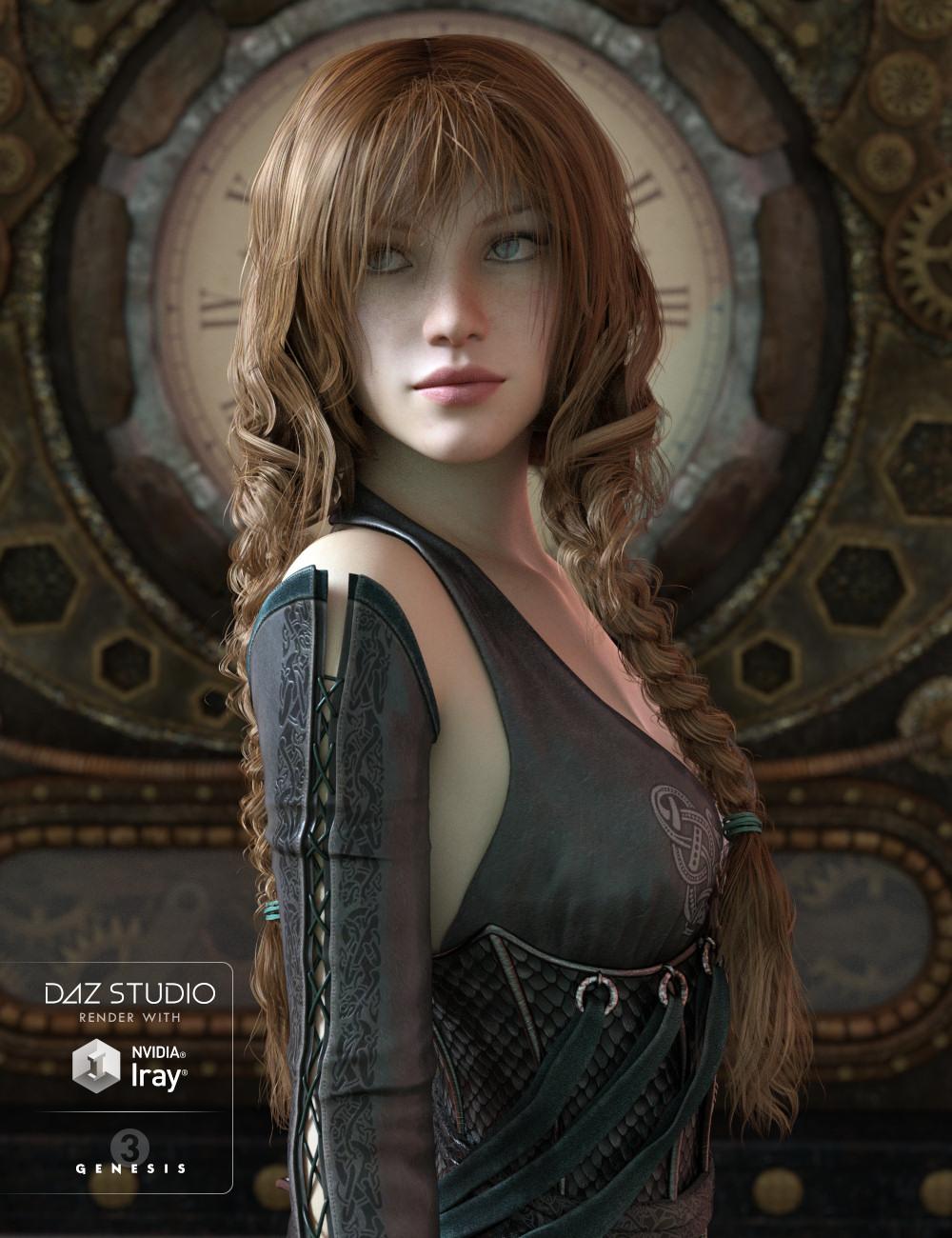 Double Trouble Braids for Genesis 3 Female(s) by: goldtassel, 3D Models by Daz 3D