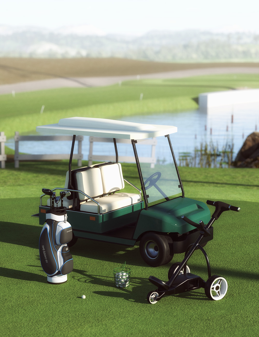 Golf Course Props by: GavagaiMely3D, 3D Models by Daz 3D