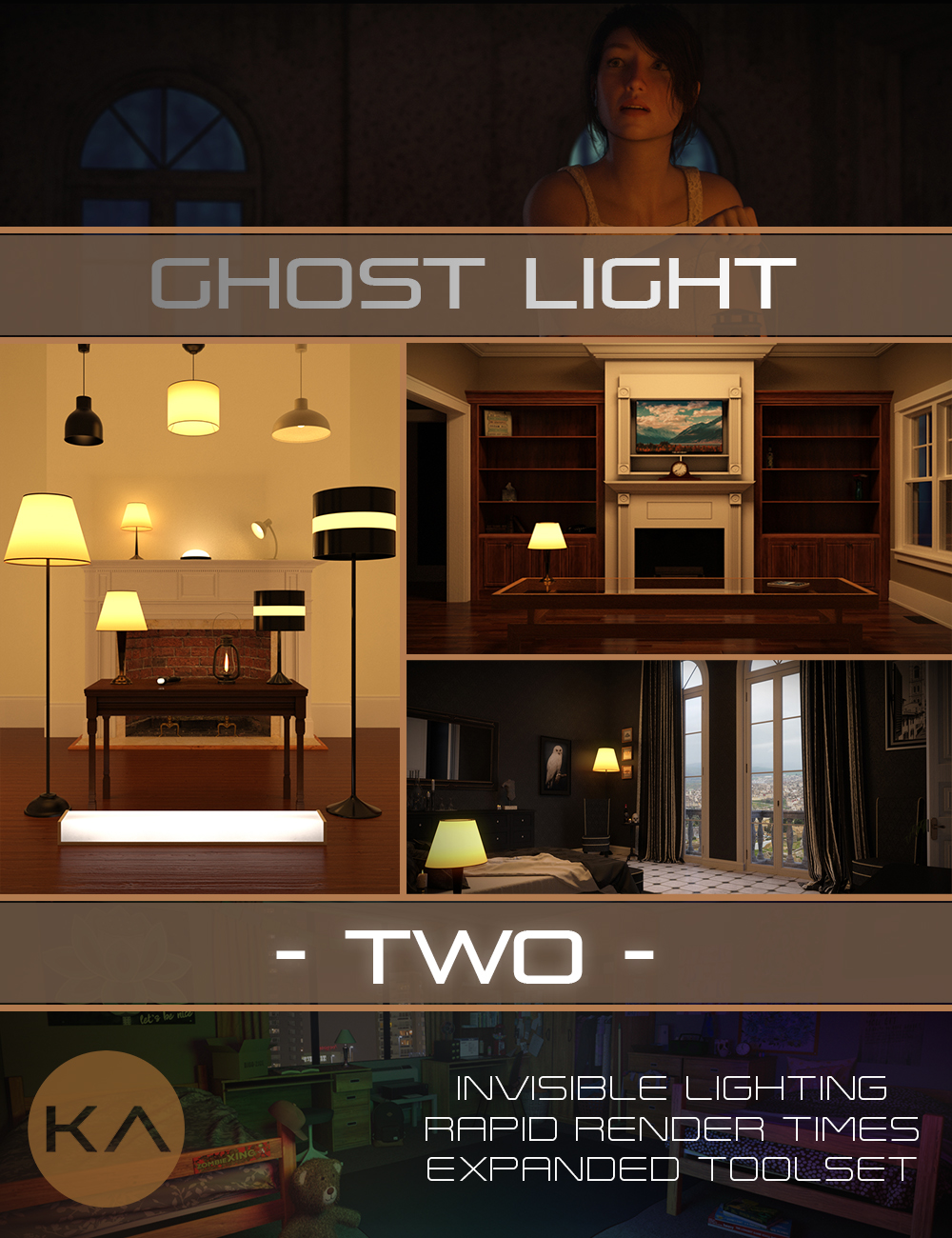 Iray Ghost Light Kit 2 by: KindredArts, 3D Models by Daz 3D