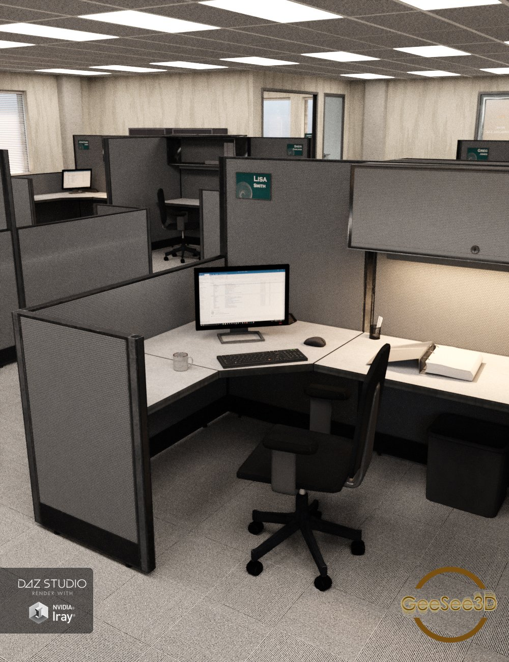 The Daily Routine Office by: GeeSee3D, 3D Models by Daz 3D