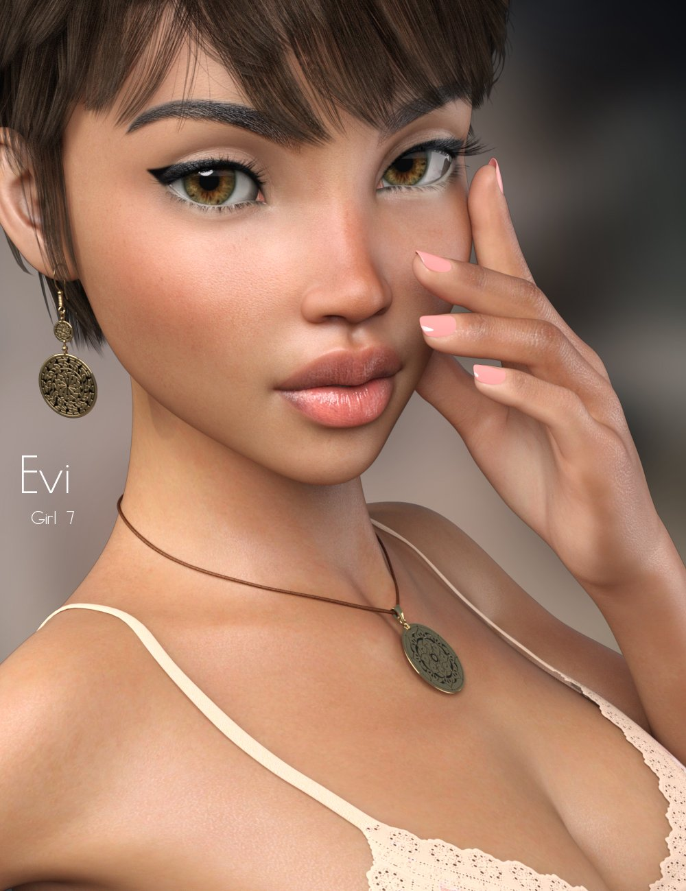 P3D Evi for Girl 7 by: P3Design, 3D Models by Daz 3D