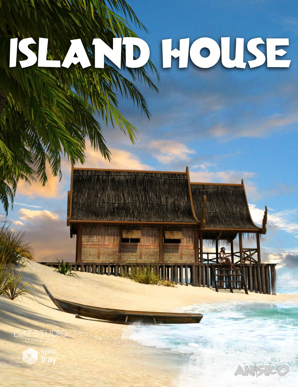 Island House by: Ansiko, 3D Models by Daz 3D