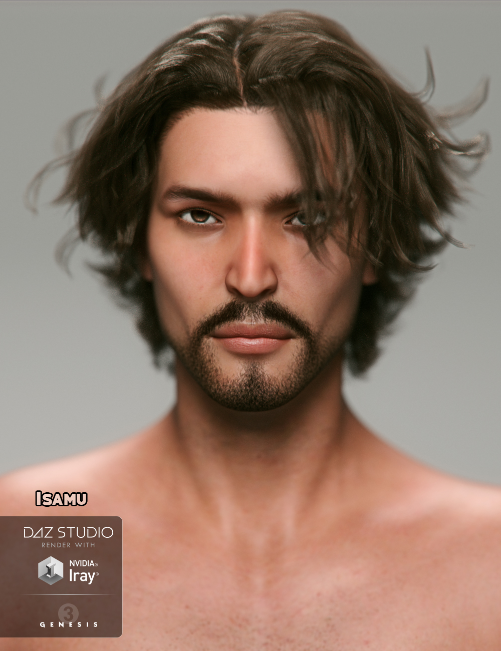 Isamu for Genesis 3 Male by: JavierMicheal, 3D Models by Daz 3D