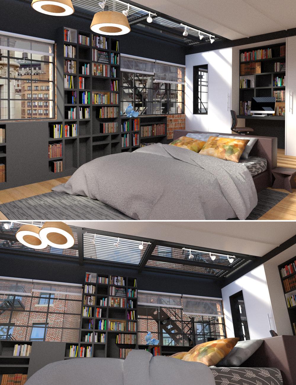 Brooklyn Apartment by: Digitallab3D, 3D Models by Daz 3D