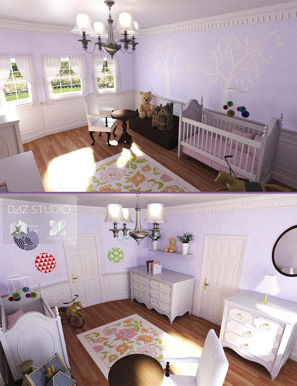 Nursery Room by: PerspectX, 3D Models by Daz 3D