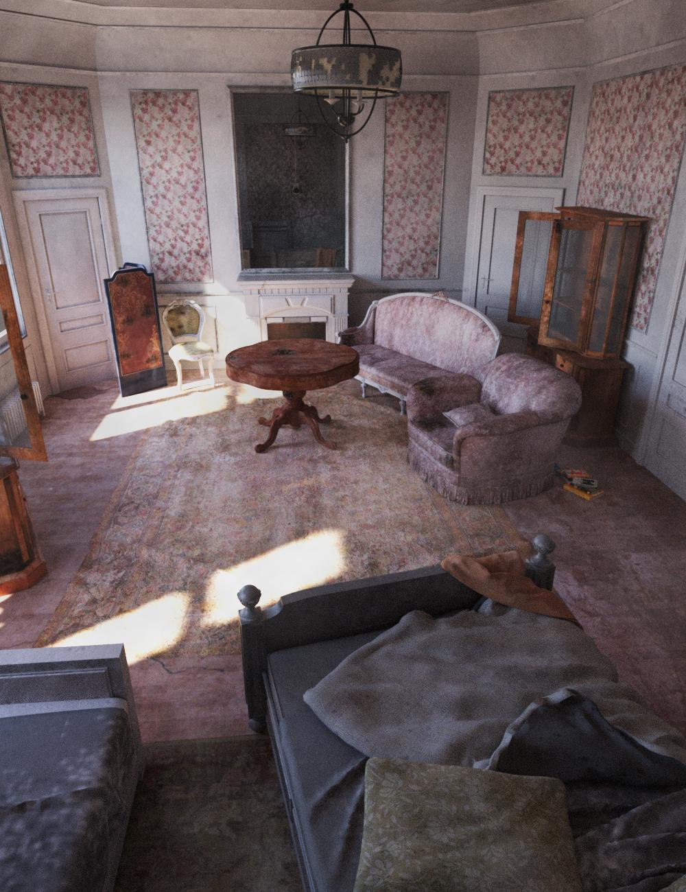Tesla Abandoned House by: Tesla3dCorp, 3D Models by Daz 3D