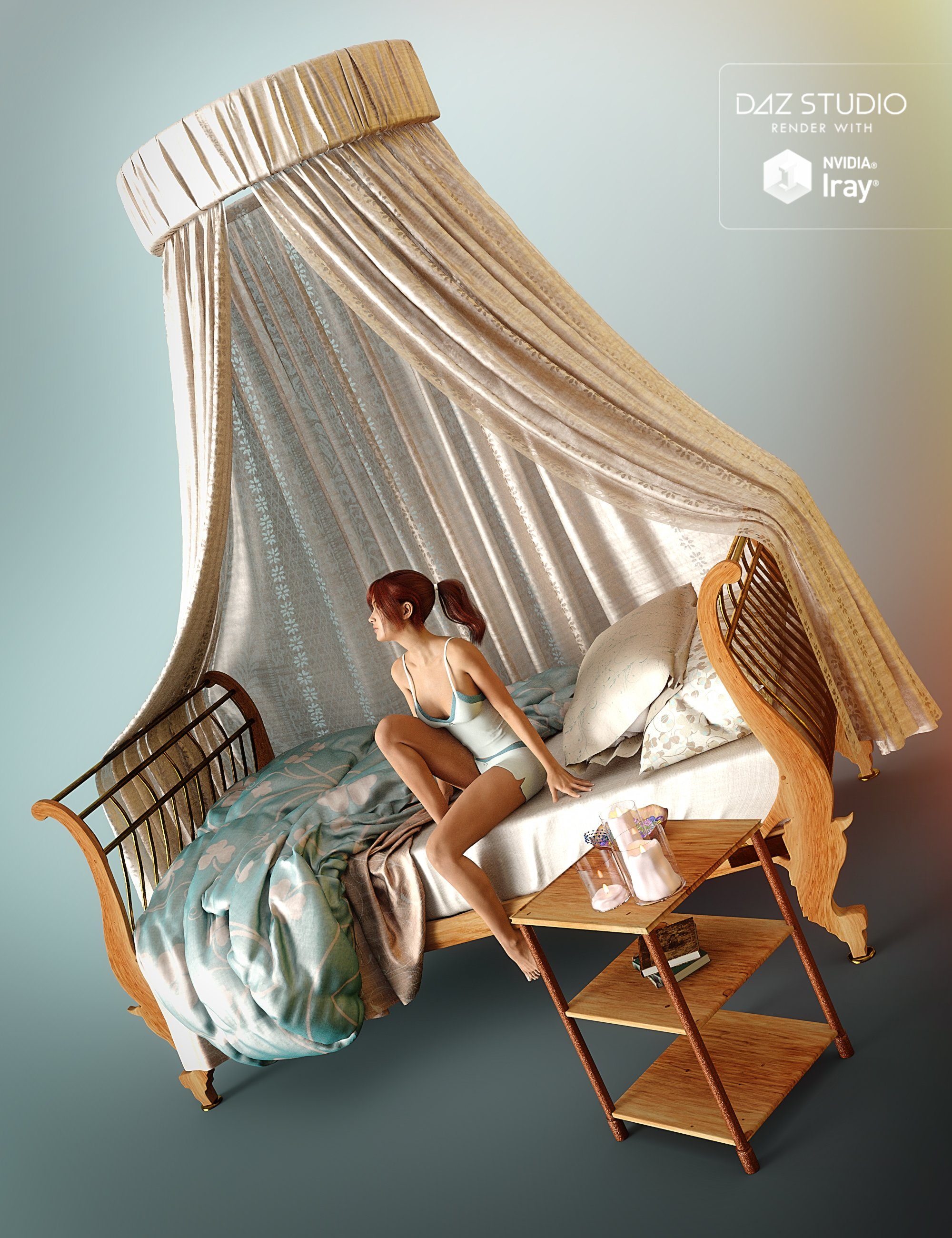 Daybed Romance by: PandyGirl, 3D Models by Daz 3D