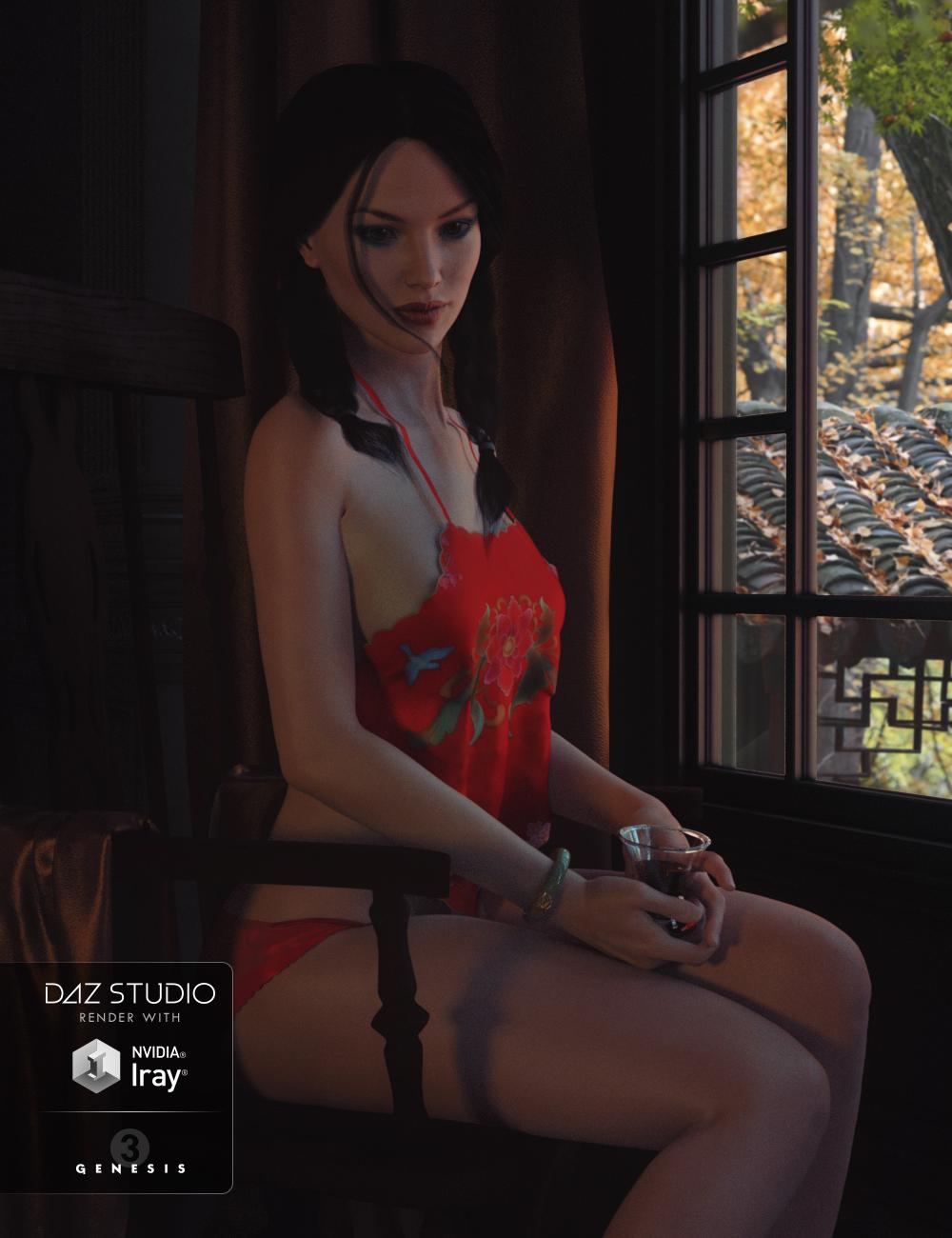 Halter Tops for Genesis 3 Female(s) by: RareStone, 3D Models by Daz 3D