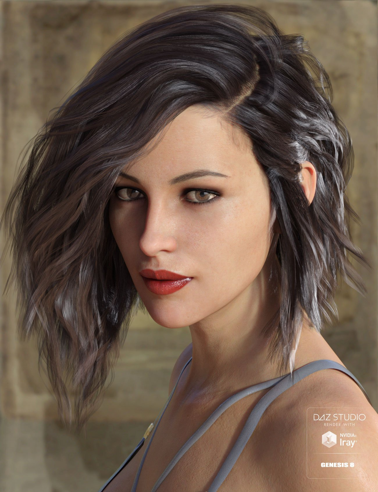 Voss Hair for Genesis 3 & 8 Female(s) by: AprilYSH, 3D Models by Daz 3D