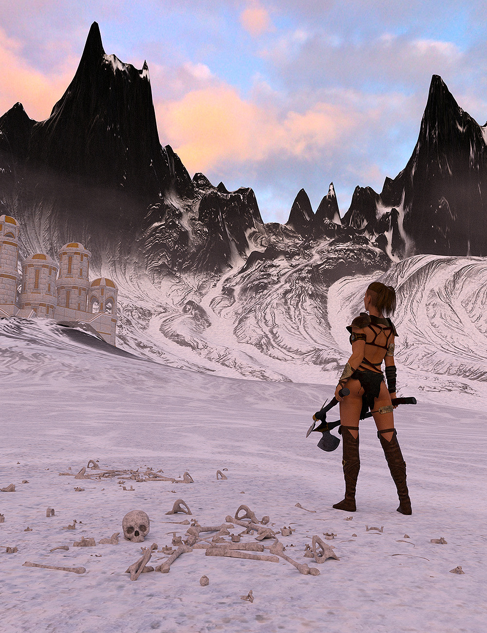The Naurfire Mountains by: Orestes Graphics, 3D Models by Daz 3D