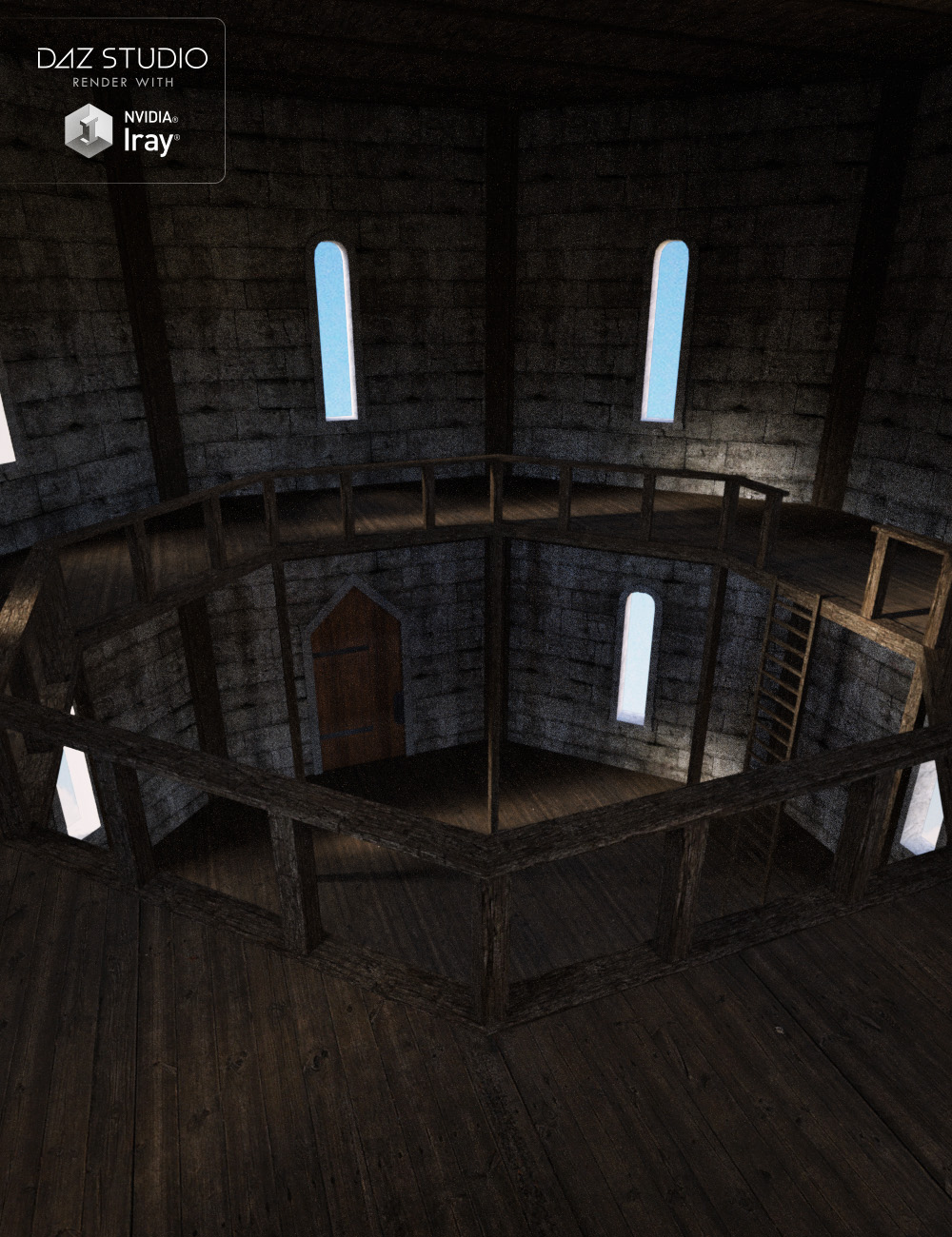 Medieval Castle Tower Interior by: , 3D Models by Daz 3D
