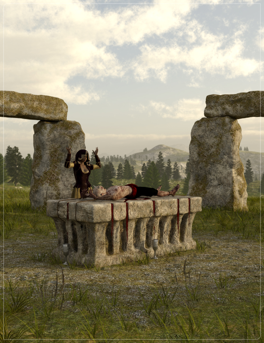 Easy Environments: Witchcraft: Sacrifice by: Flipmode, 3D Models by Daz 3D