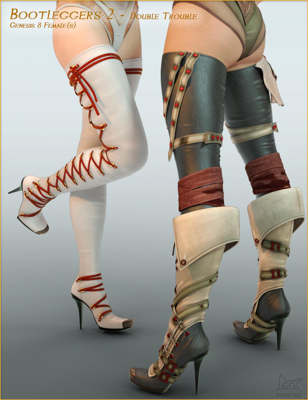 Bootleggers 2 - Double Trouble for Genesis 8 Female(s) by: BadKitteh Co, 3D Models by Daz 3D