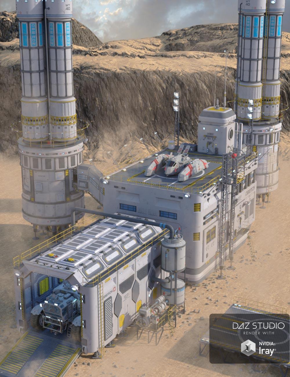 Sci-fi Base 2 by: petipet, 3D Models by Daz 3D