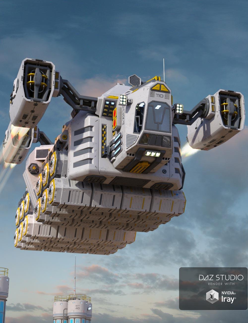 Sci-fi Cargo Ship by: petipet, 3D Models by Daz 3D