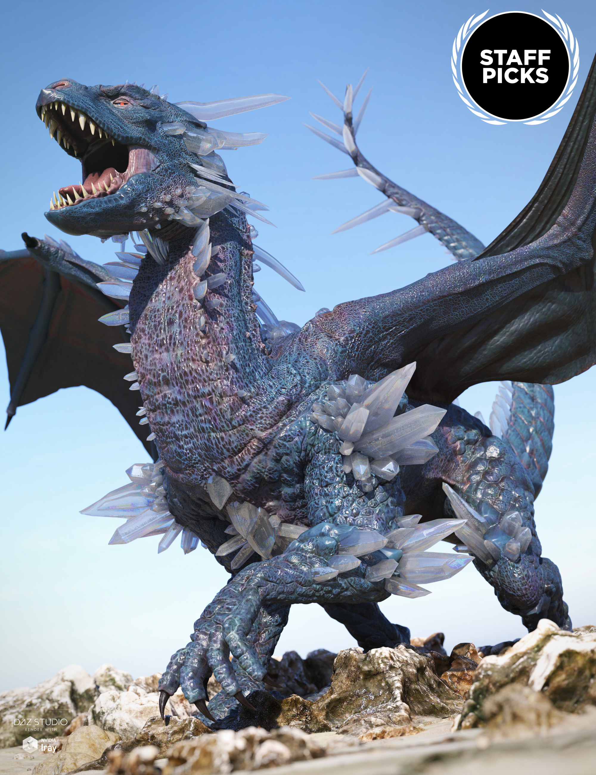 Crystal Dragon for the Daz Dragon 3 by: , 3D Models by Daz 3D