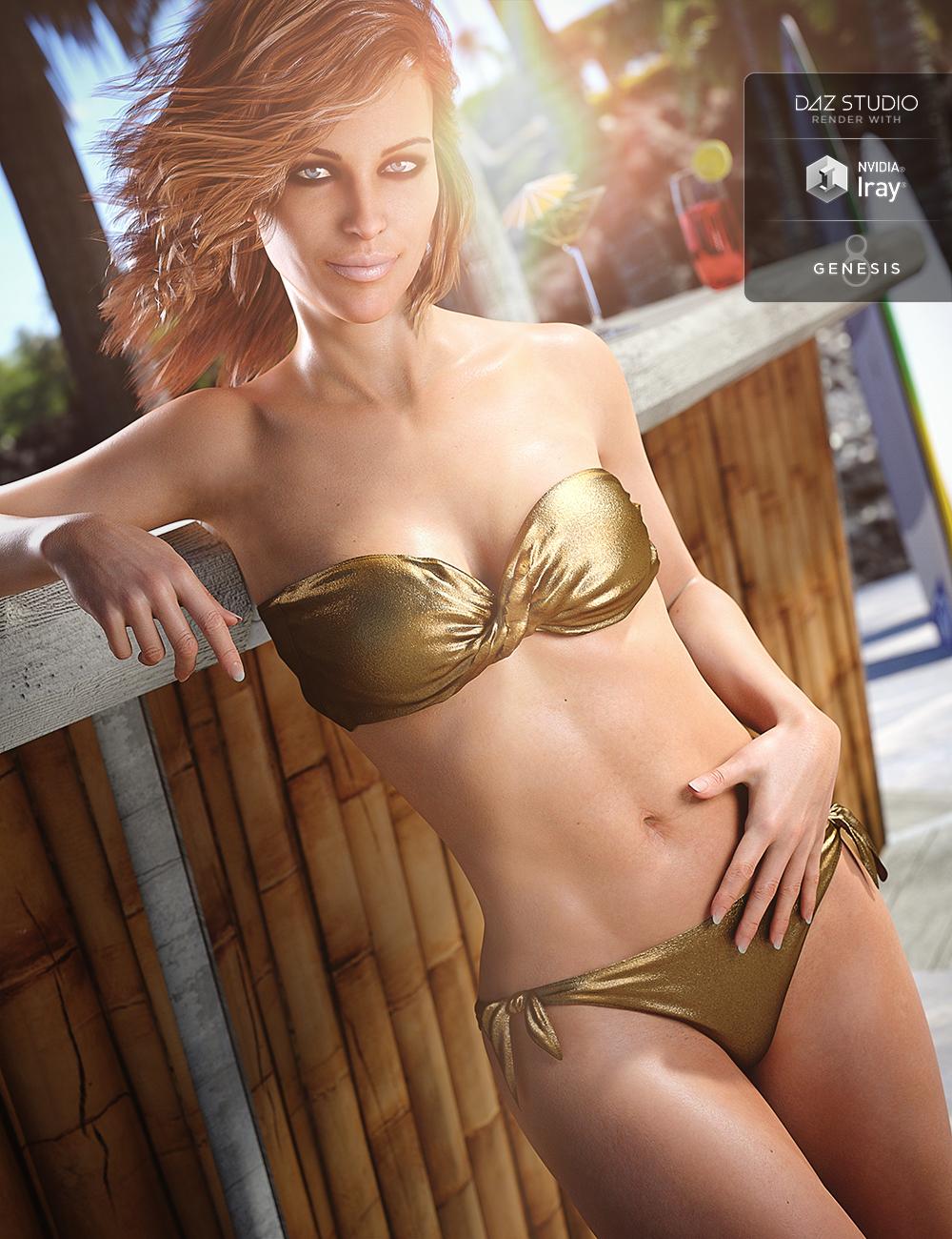 Bandeau Twist Bikini for Genesis 8 Female(s) by: NikisatezArien, 3D Models by Daz 3D