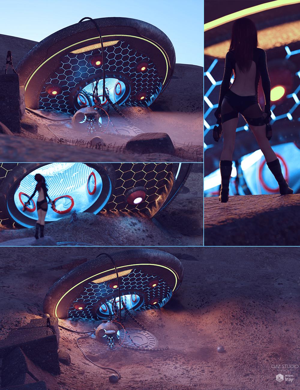 UFO Crash Site by: ForbiddenWhispersDavid Brinnen, 3D Models by Daz 3D