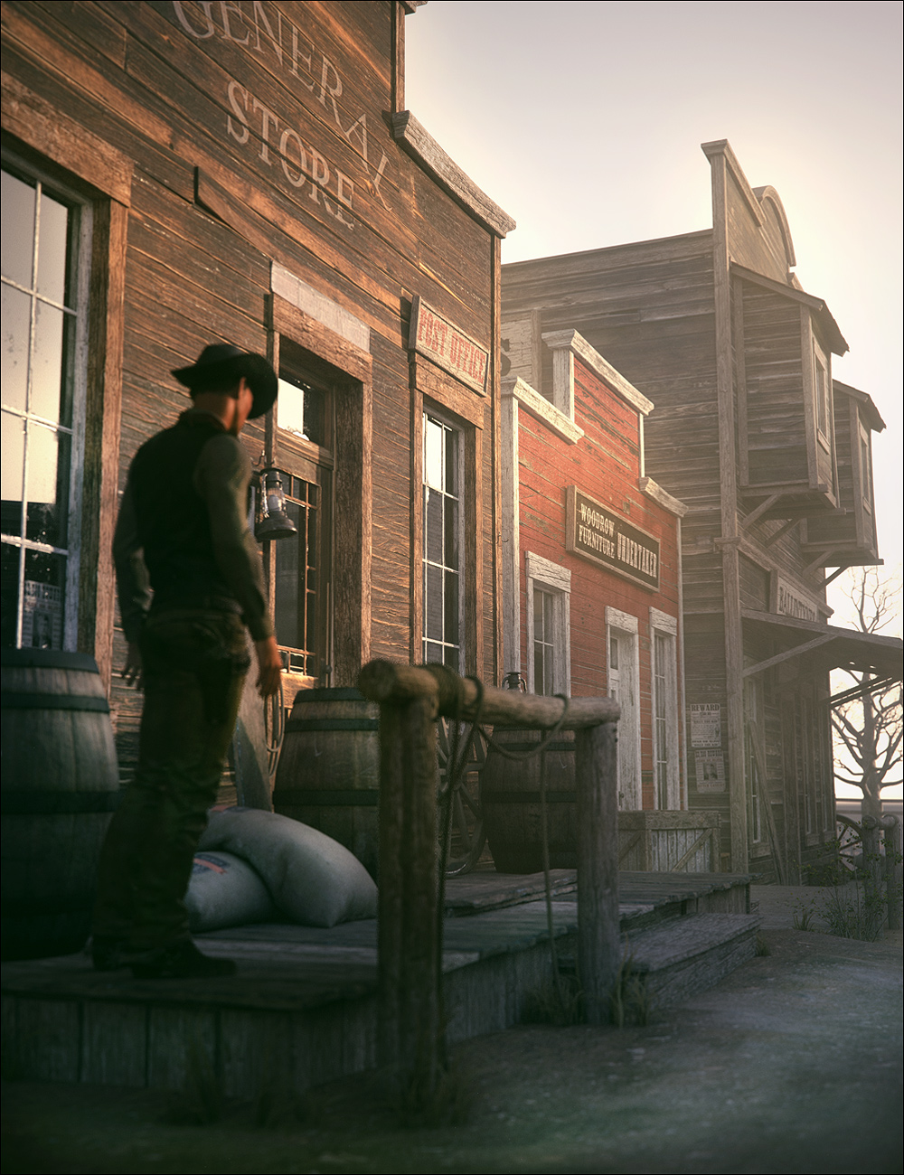 The Streets Of The Wild West by: Stonemason, 3D Models by Daz 3D