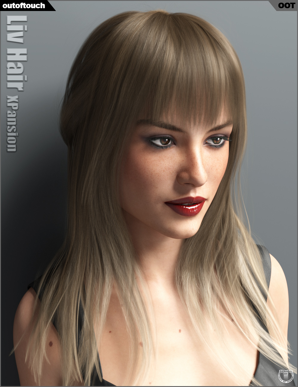 Liv Hair and OOT Hairblending 2.0 Texture XPansion by: outoftouch, 3D Models by Daz 3D
