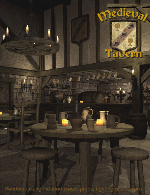 Medieval Tavern by: Faveral, 3D Models by Daz 3D