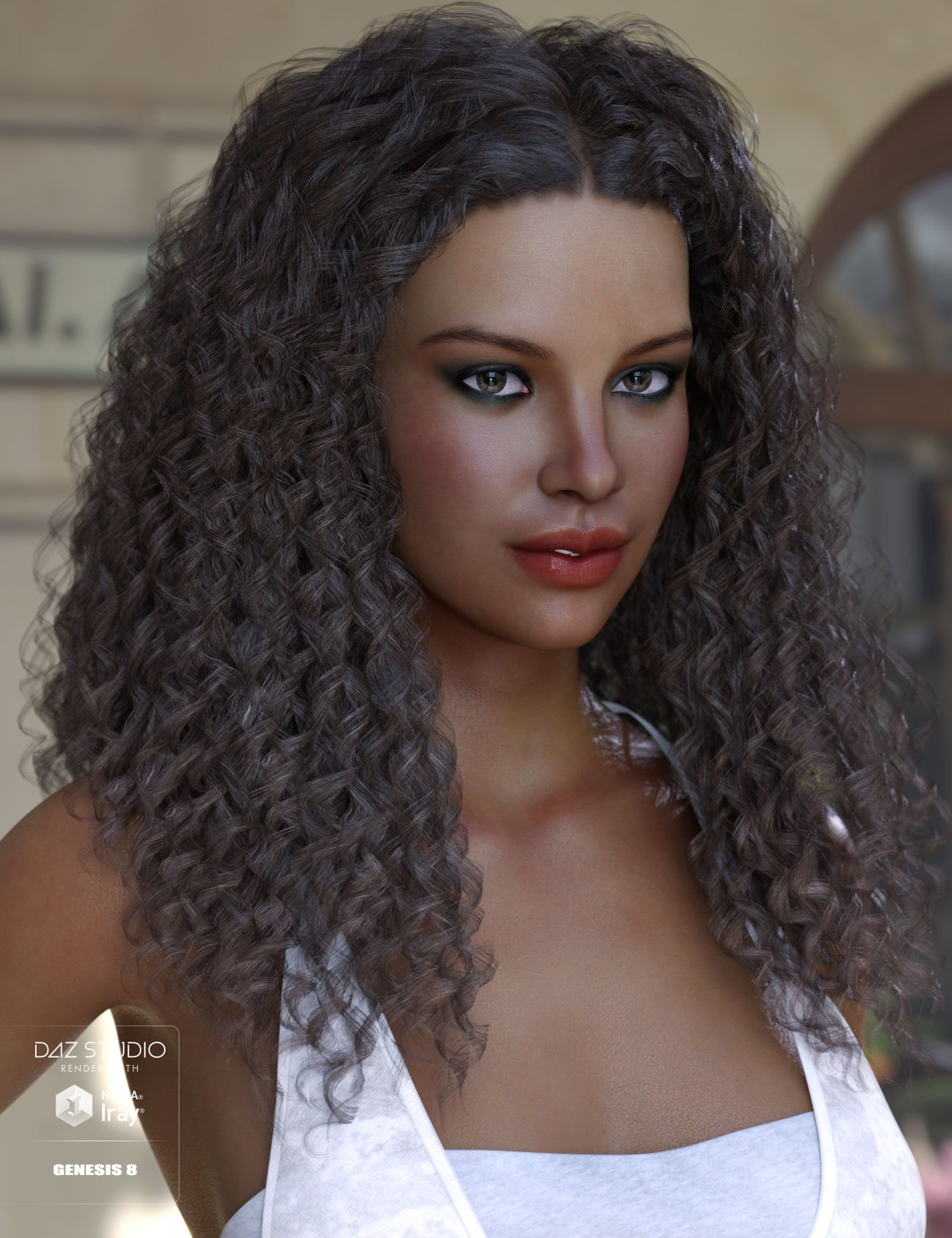 Karissa Hair for Genesis 3 & 8 Female(s) by: AprilYSH, 3D Models by Daz 3D