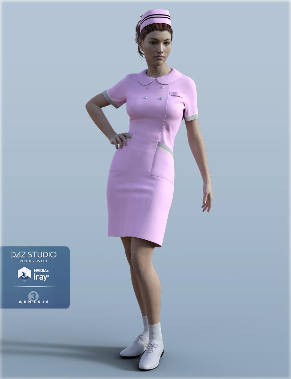 H&C Nurse Uniform for Genesis 3 Female(s) by: IH Kang, 3D Models by Daz 3D