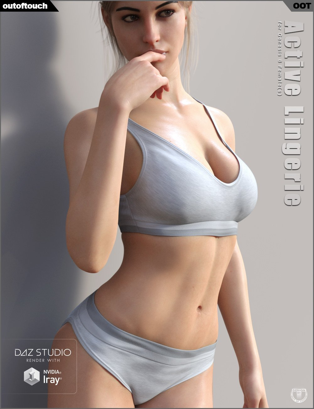 Active Lingerie for Genesis 8 Female(s) by: outoftouch, 3D Models by Daz 3D