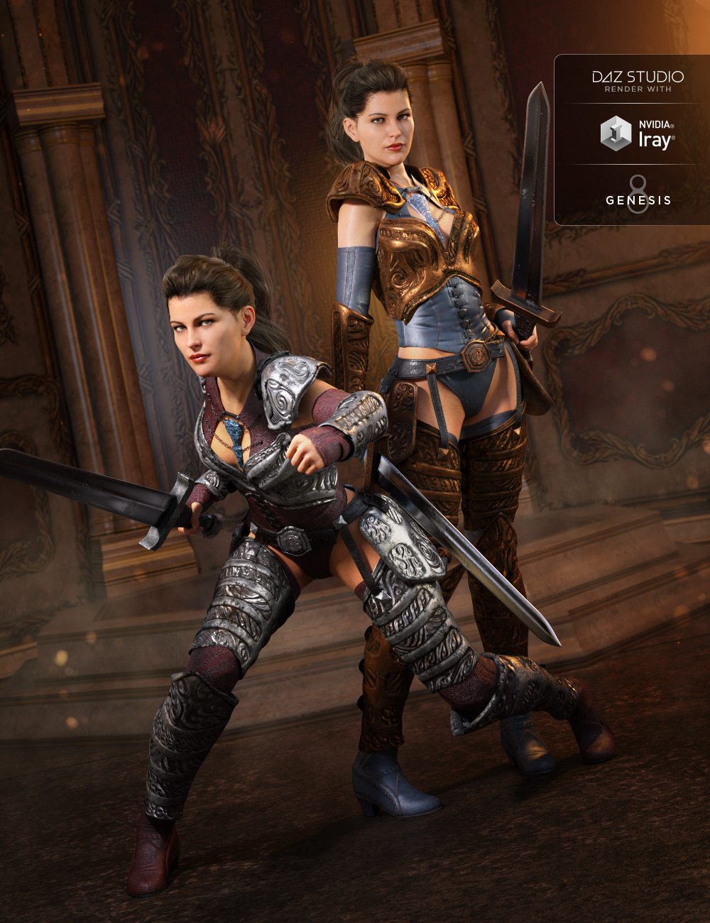 Throne Defender Armor Textures by: Mely3D, 3D Models by Daz 3D