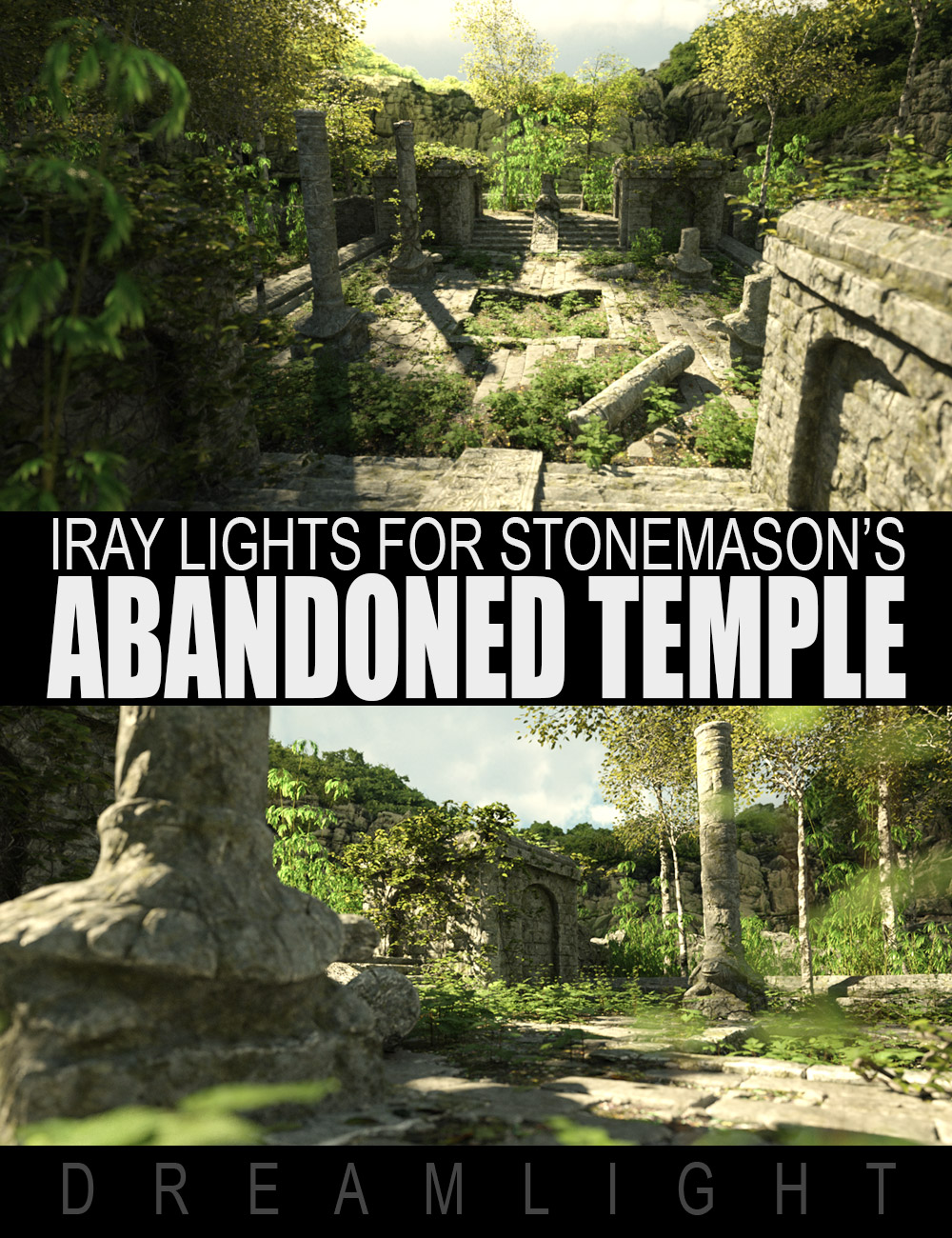 Abandoned Temple Iray Lights by: Dreamlight, 3D Models by Daz 3D
