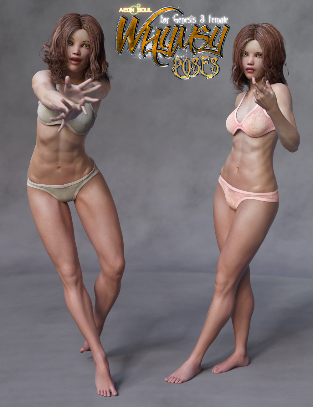 Whymsy Poses for Genesis 3 Female by: Aeon Soul, 3D Models by Daz 3D