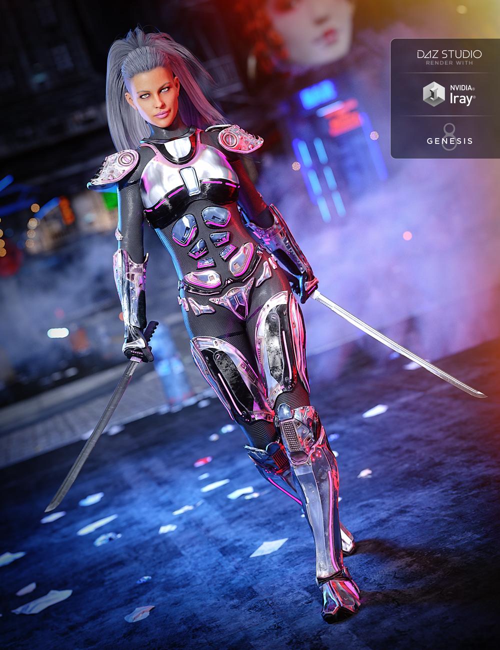 Sci-Fi Samurai for Genesis 8 Female(s) by: ZKuro, 3D Models by Daz 3D