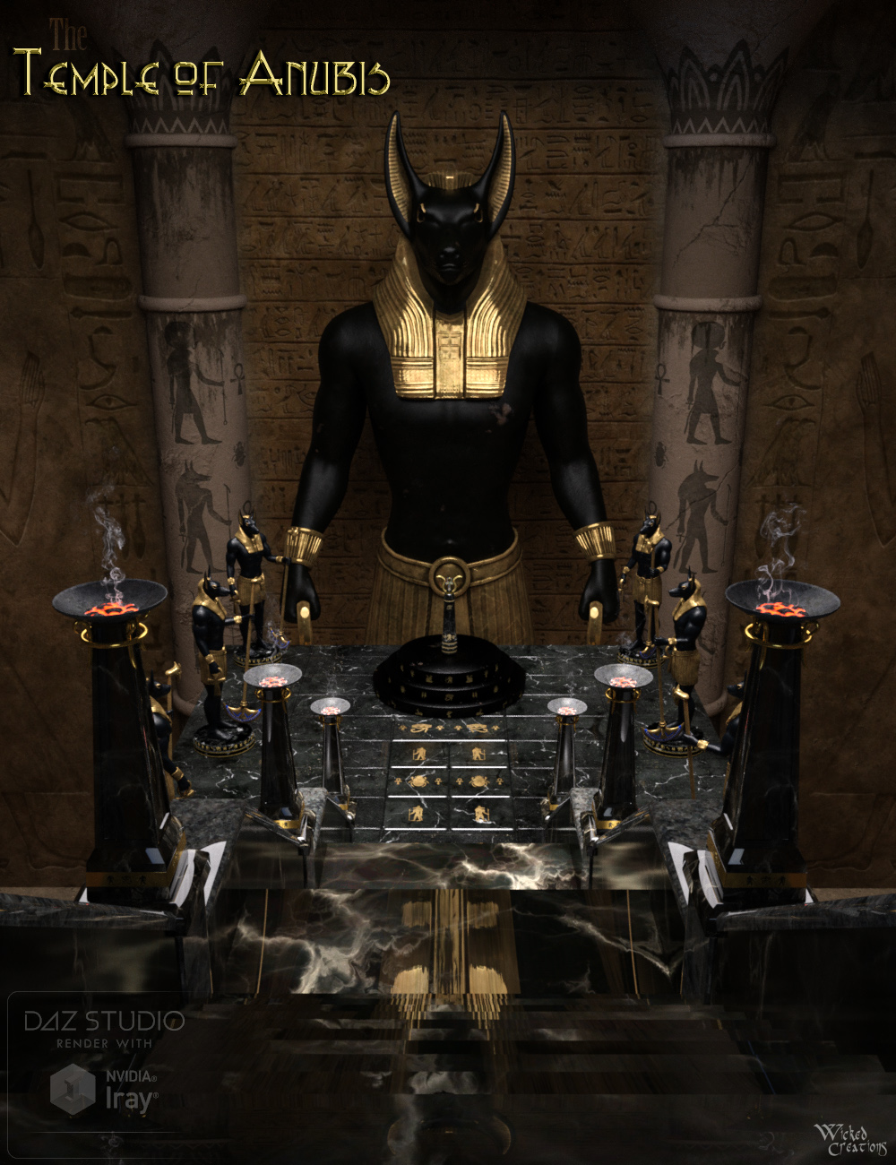 The Temple of Anubis by: Wicked Creations, 3D Models by Daz 3D