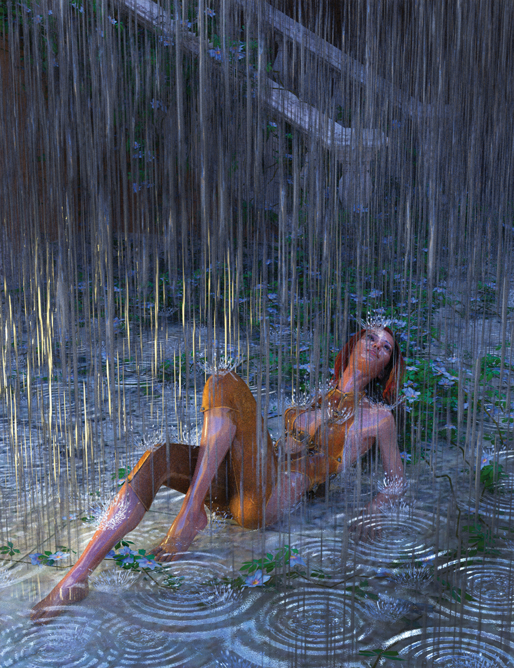 Heavy Rain for 3Delight and Iray by: Marshian, 3D Models by Daz 3D