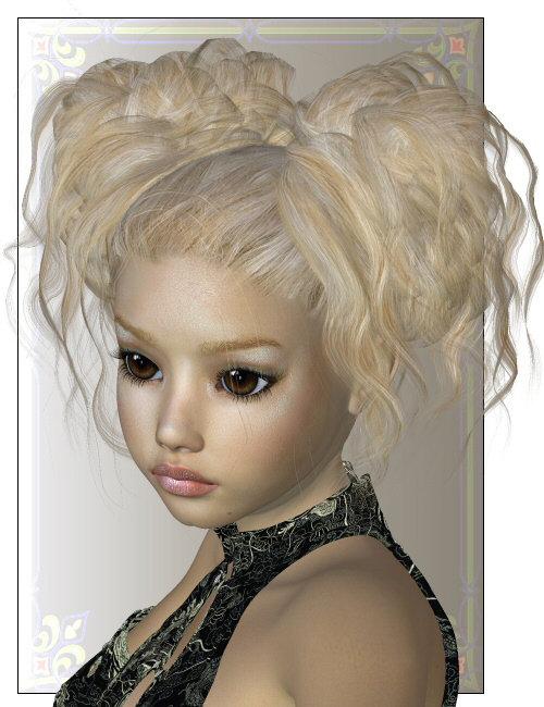 Petite Fleur Hair by: SWAMgoldtassel, 3D Models by Daz 3D