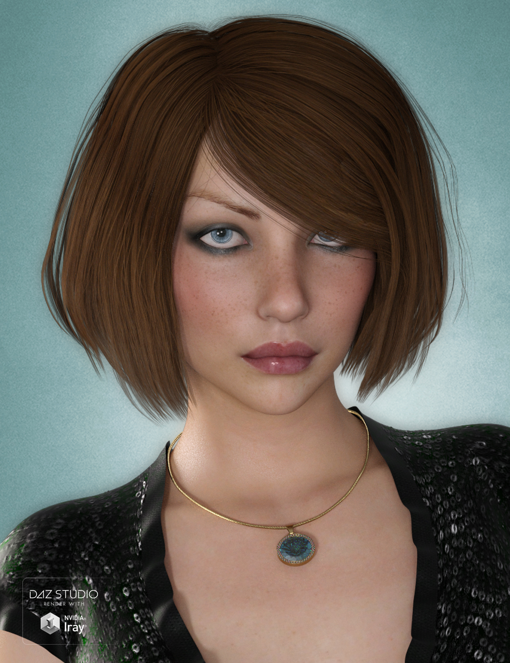 Dina Hair for Genesis 3 and 8 Female(s) by: SWAM, 3D Models by Daz 3D