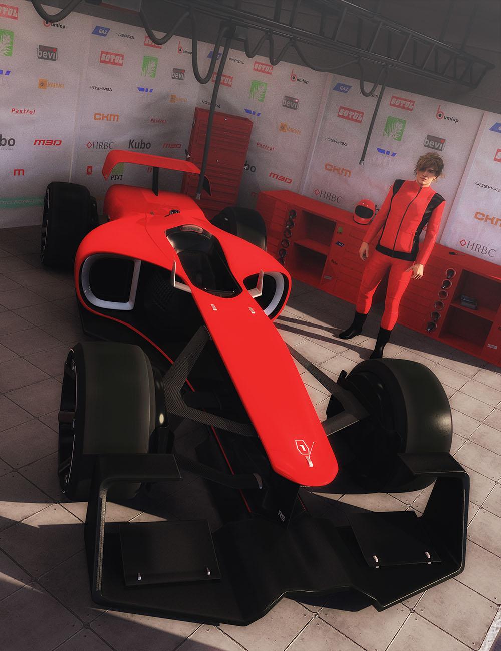 Formula One Race Car by: Mely3D, 3D Models by Daz 3D