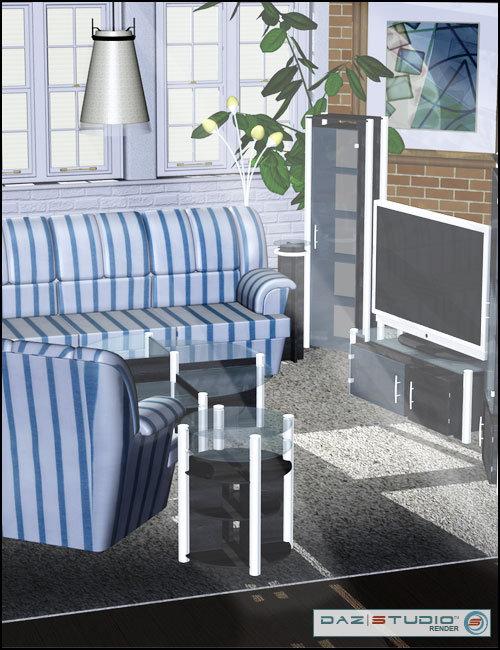 Modern Furniture 2 by: , 3D Models by Daz 3D