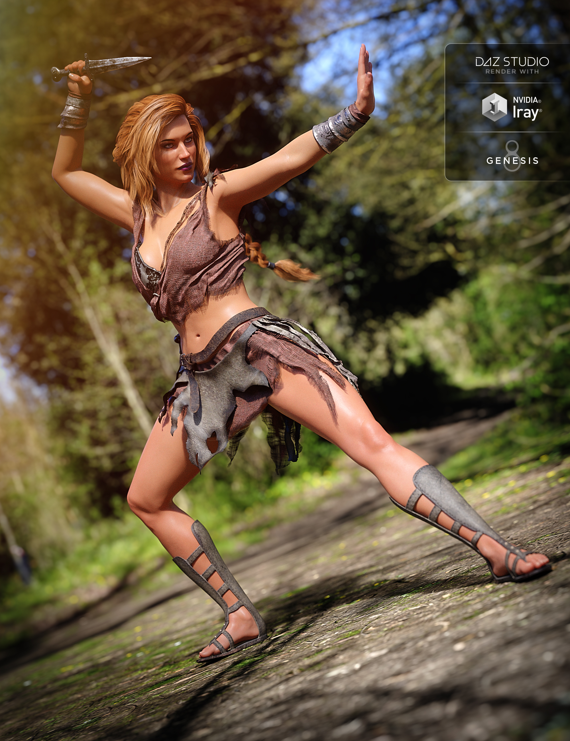 Barbarian Warrior Outfit for Genesis 8 Female(s) by: Linday, 3D Models by Daz 3D