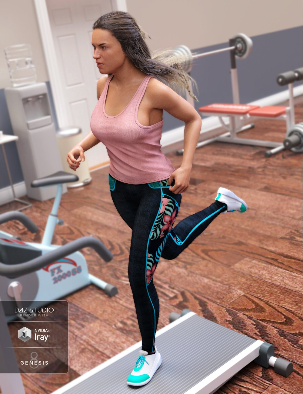 Gym Wear Outfit for Genesis 8 Female(s) by: ArienMada, 3D Models by Daz 3D