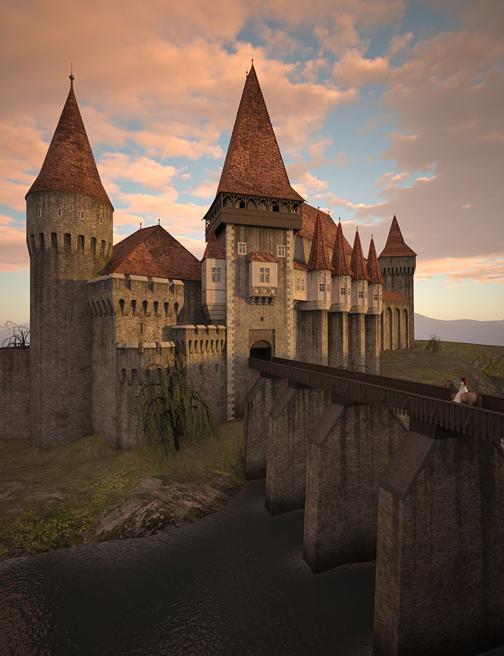 Medieval Castle by: bitwelder, 3D Models by Daz 3D