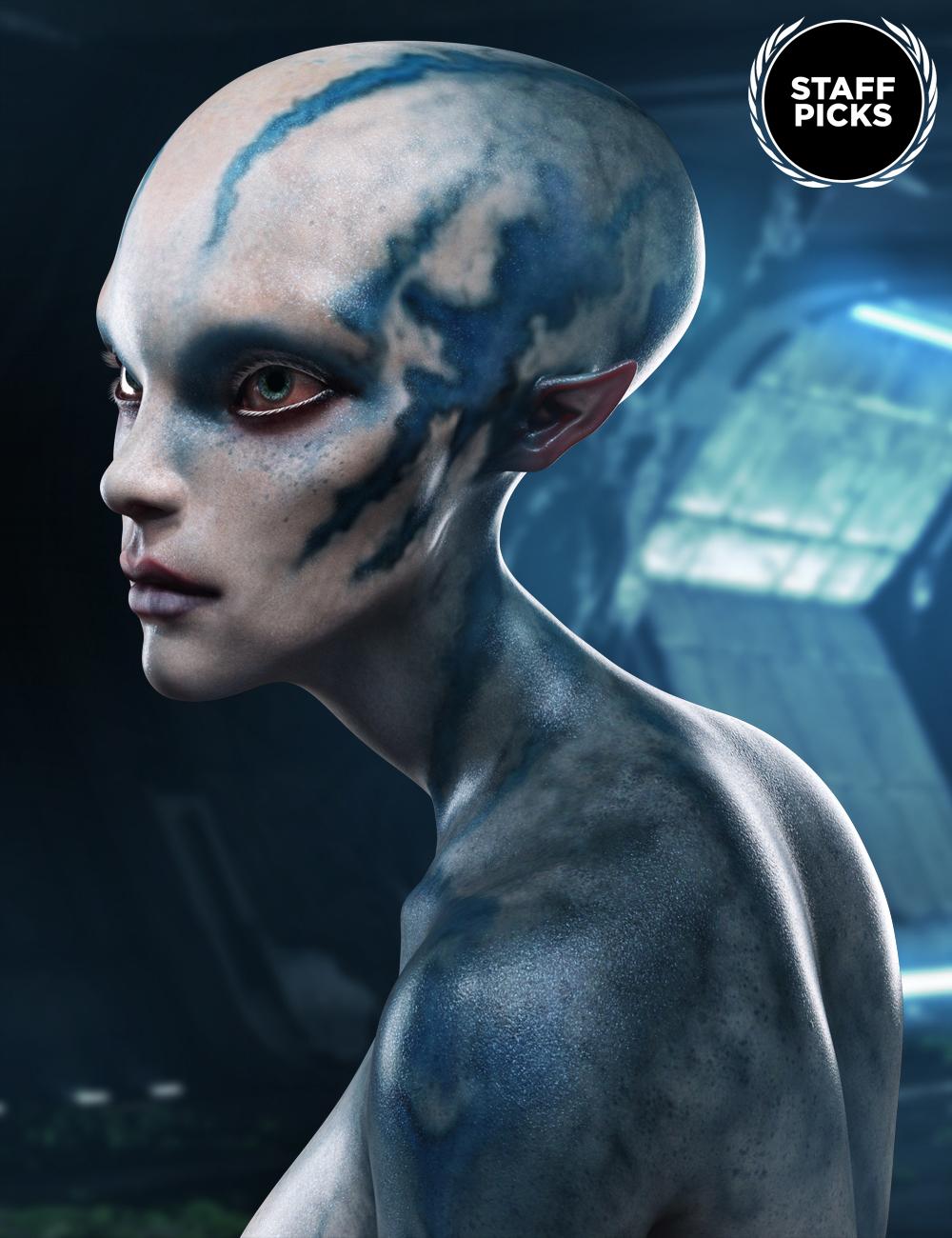 Nenana Alien HD for Genesis 8 Female by: , 3D Models by Daz 3D
