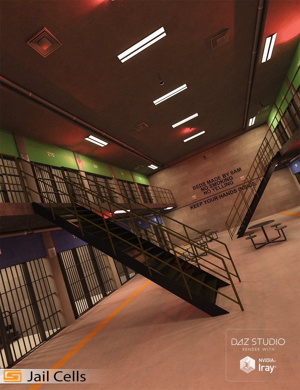 Jail Cell Block by: Sedor, 3D Models by Daz 3D