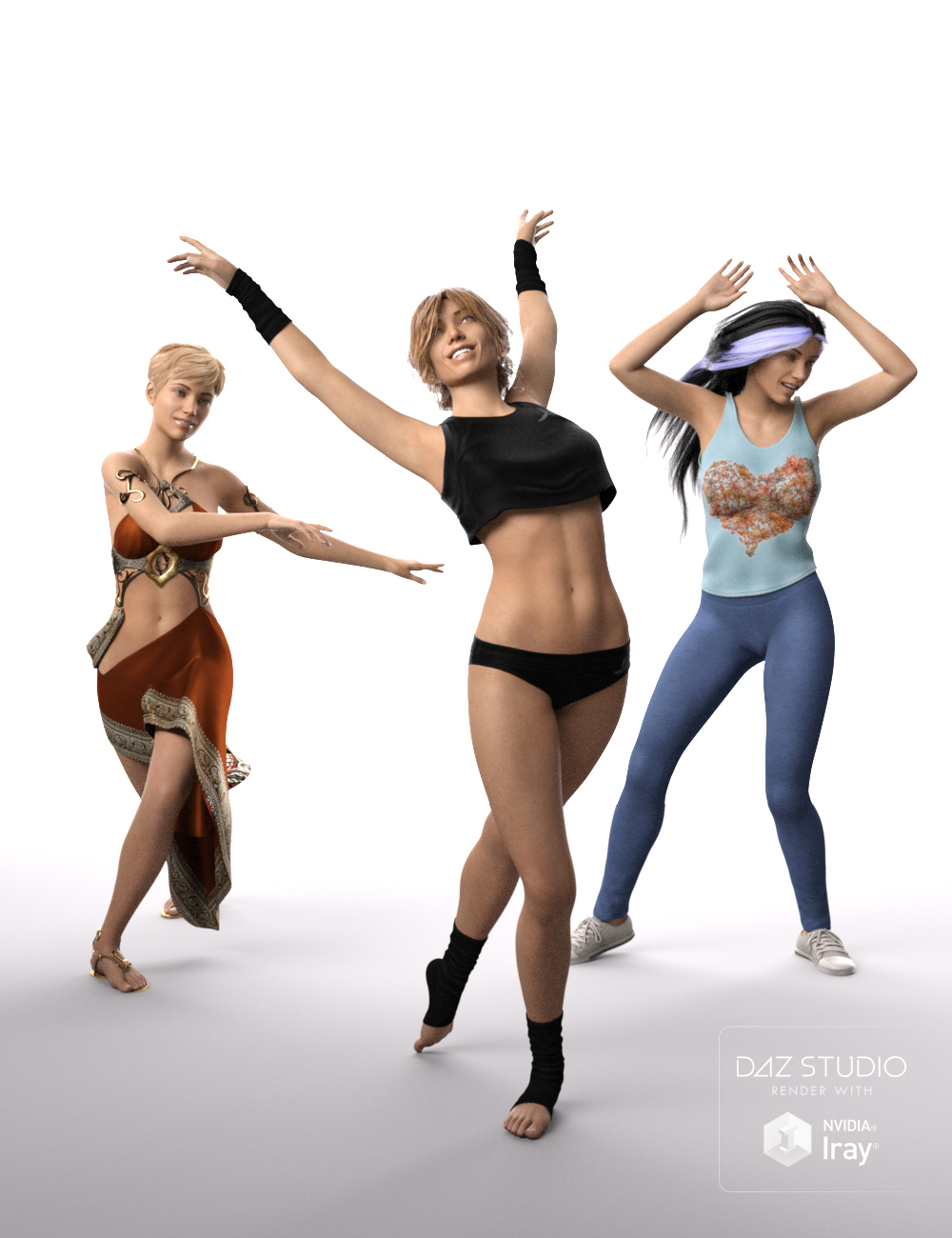 Dance Dance Poses for Genesis 8 Female(s) by: Muscleman, 3D Models by Daz 3D