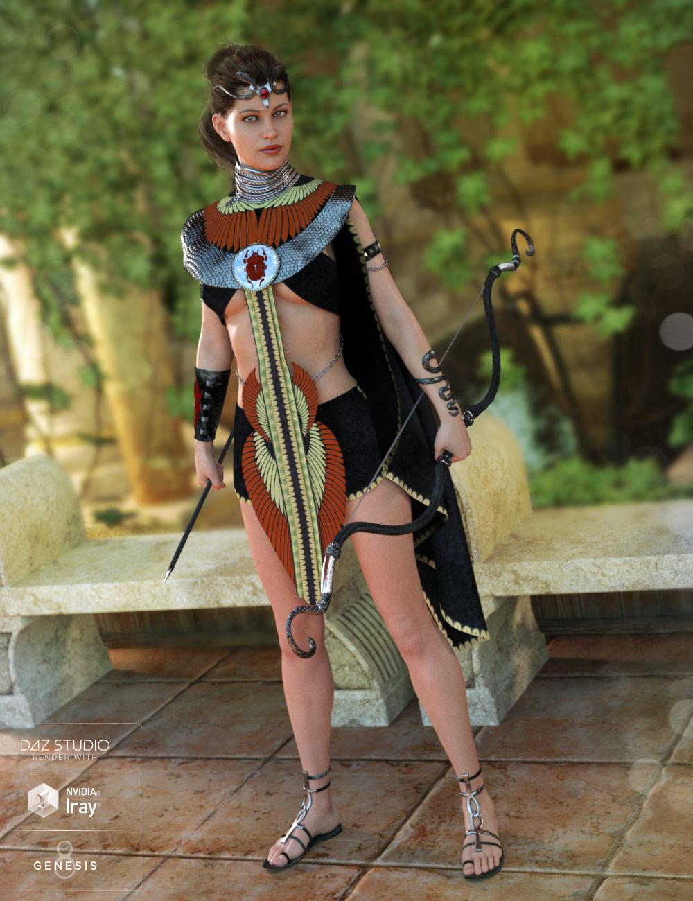 Desert Watcher Outfit for Genesis 8 Female(s) by: NikisatezAnna Benjamin, 3D Models by Daz 3D